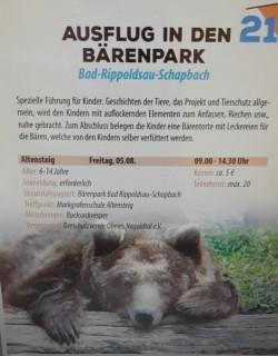 Ausflug in den Bärenpark - für unsere kleinen Tierschützer